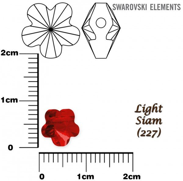 SWAROVSKI 5744 LIGHT SIAM  8mm