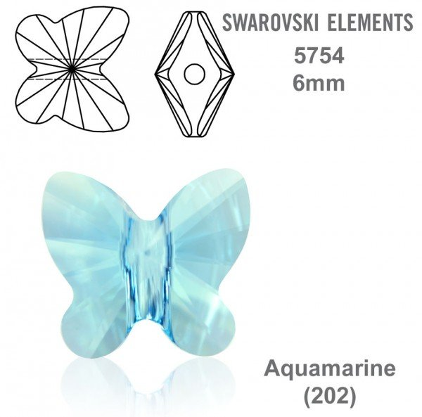 SWAROVSKI 5754 AQUAMARINE 6mm
