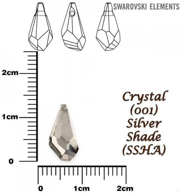 SWAROVSKI 6015 SILVER SHADE 13mm
