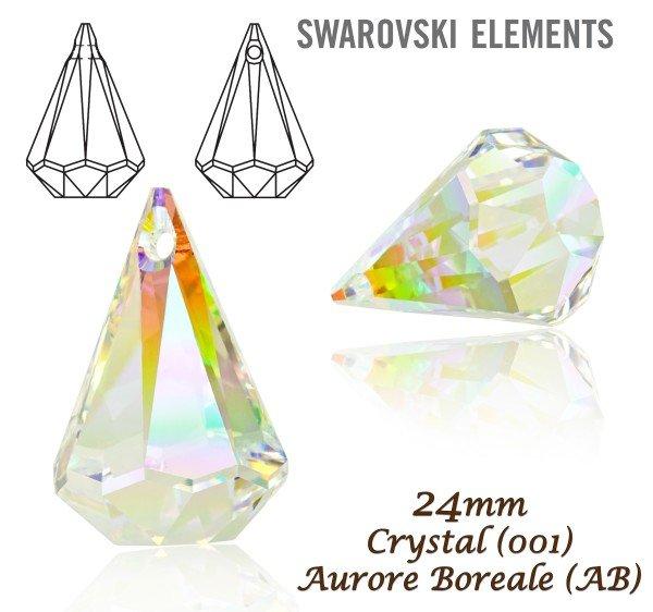 d061eadfc8fc3 Swarovski 6022 Raindrop Pendant 24mm. Barva Crystal Aurore Boreale ...