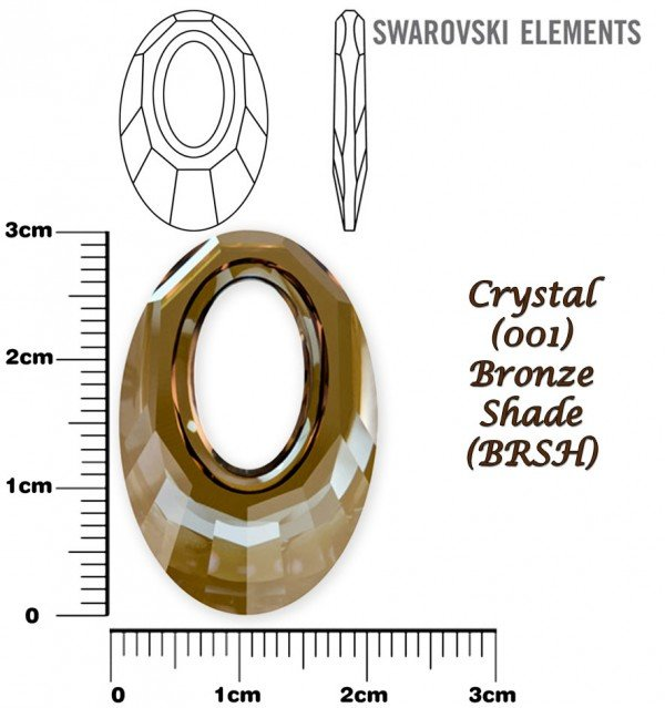 SWAROVSKI 6040 BRONZE SHADE 30mm