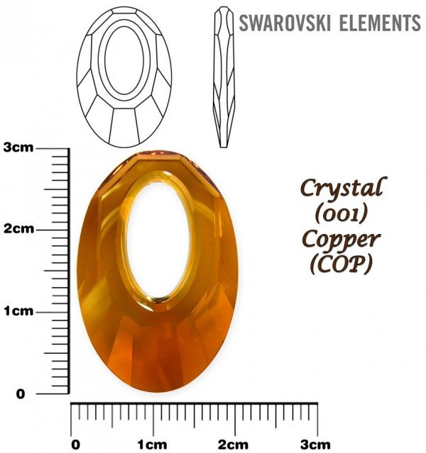 SWAROVSKI 6040 CRYSTAL COPPER  30mm