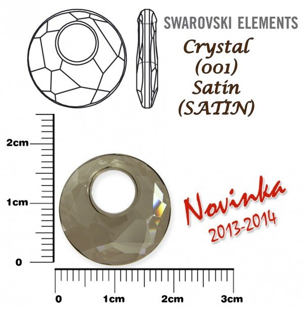 SWAROVSKI 6041 CRYSTAL SATIN 18mm