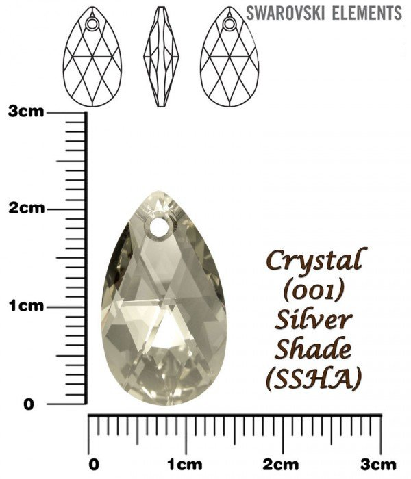 SWAROVSKI 6106 CRYSTAL SILVER SHADE 22mm