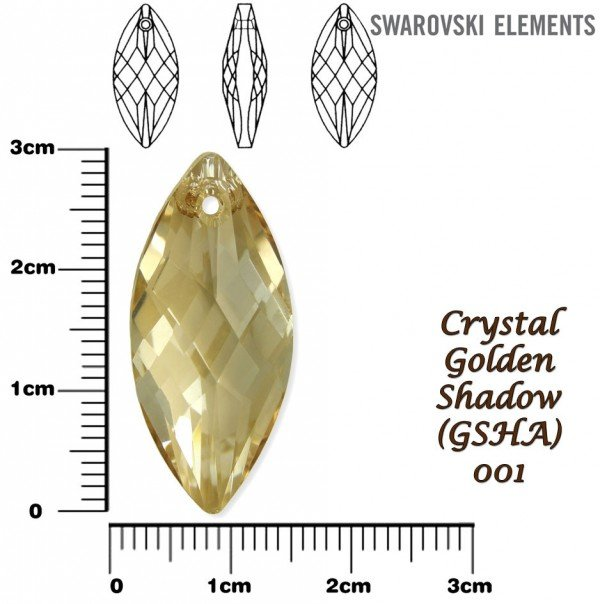 SWAROVSKI 6110 GOLDEN SHADOW 30x14mm