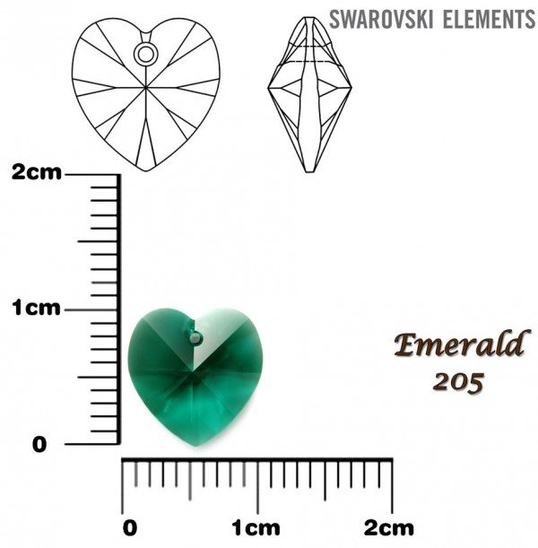 SWAROVSKI 6202 EMERALD 10x10mm