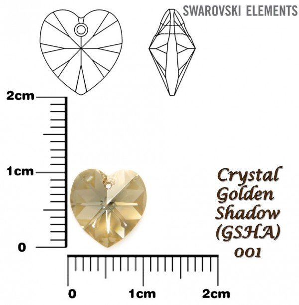 SWAROVSKI 6202 GOLDEN SHADOW 10x10mm