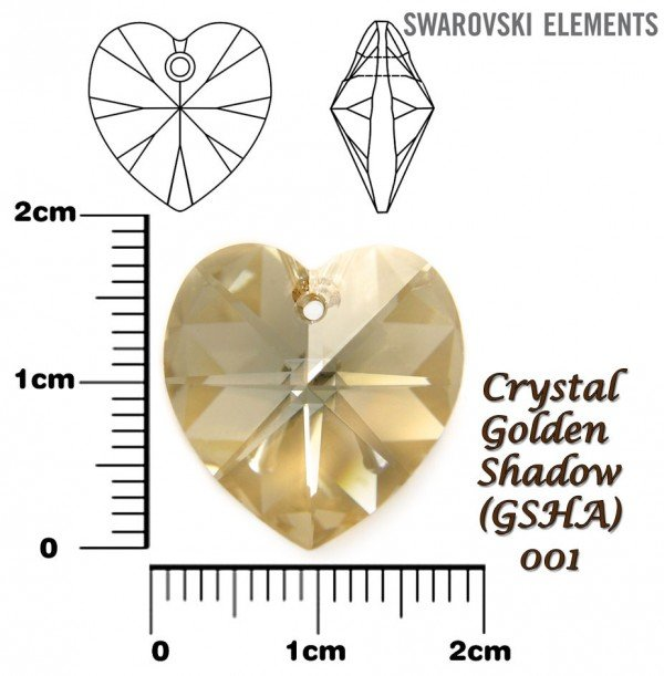 SWAROVSKI 6202 GOLDEN SHADOW 18x17mm