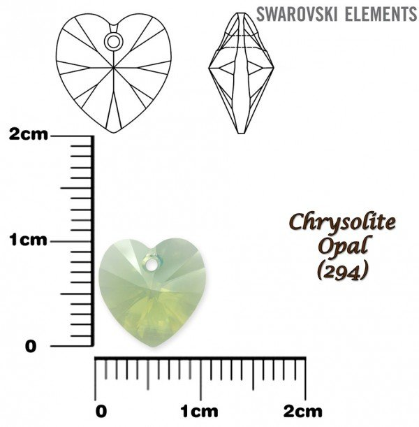 SWAROVSKI 6228 CHRYSOLITE OPAL 10x10mm
