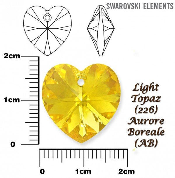 SWAROVSKI 6228 LIGHT TOPAZ  AURORE BOREALE 18x17mm