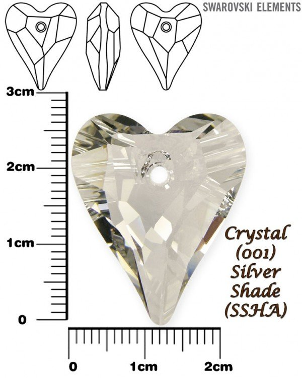 SWAROVSKI 6240 CRYSTAL SILVER SHADE 27mm