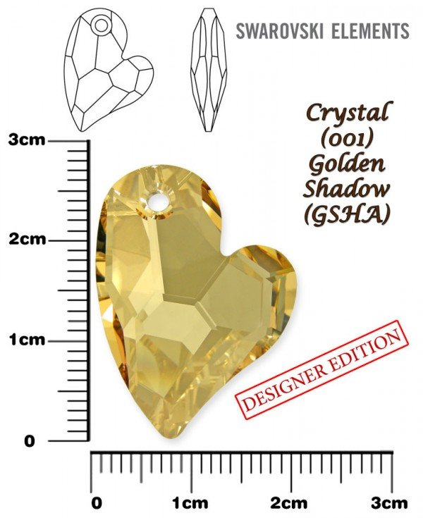 SWAROVSKI 6261 GOLDEN SHADOW 27mm