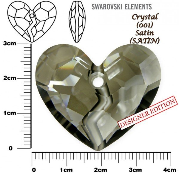SWAROVSKI 6263 CRYSTAL SATIN  36mm