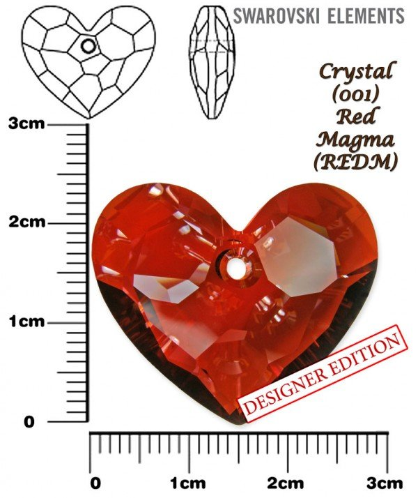 SWAROVSKI 6264 RED MAGMA 28mm