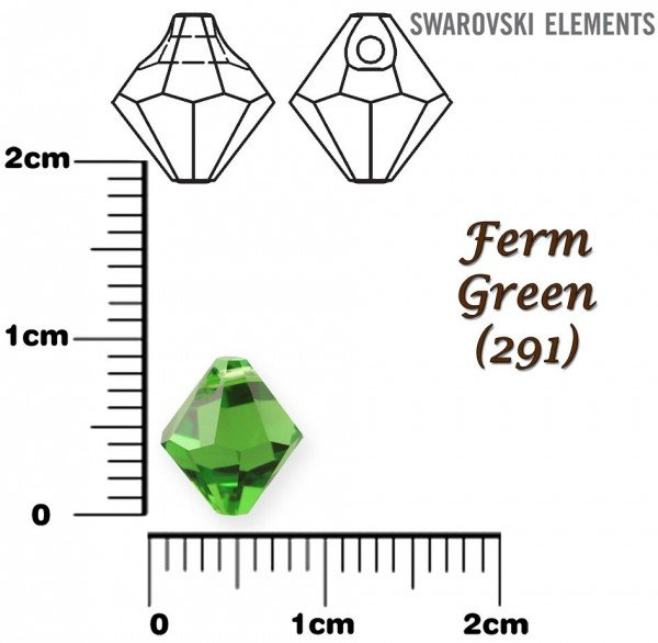 SWAROVSKI 6301 FERN GREEN  8mm