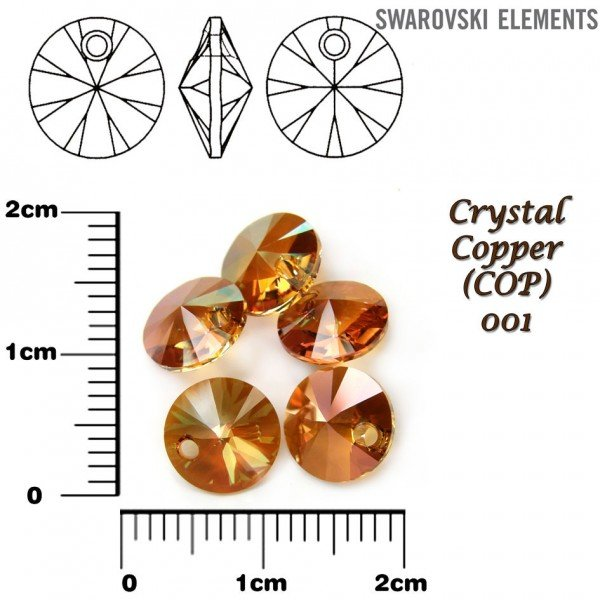 SWAROVSKI 6428 XILION COPPER 8mm