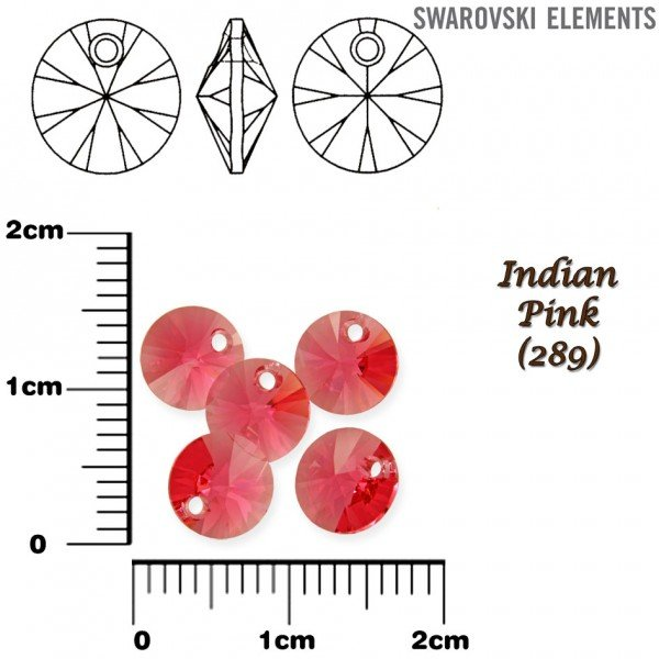 SWAROVSKI 6428 XILION INDIAN PINK 6mm