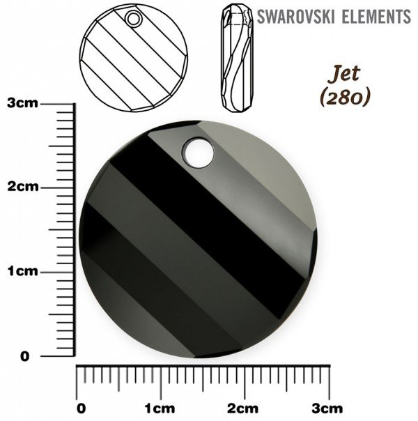 SWAROVSKI 6621 TWIST Pendant 28mm JET