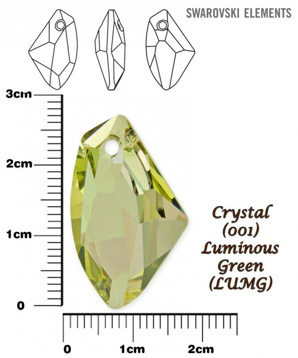 SWAROVSKI 6656 CRYSTAL LUMINOUS GREEN 27mm