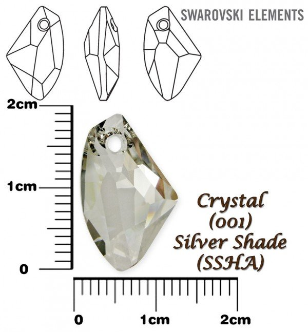 SWAROVSKI 6656 SILVER SHADE 19mm