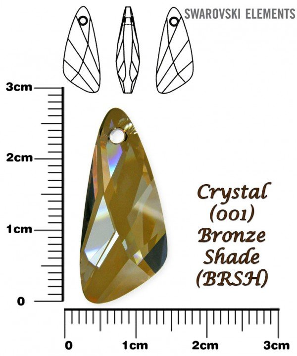 SWAROVSKI 6690 BRONZE SHADE 27mm