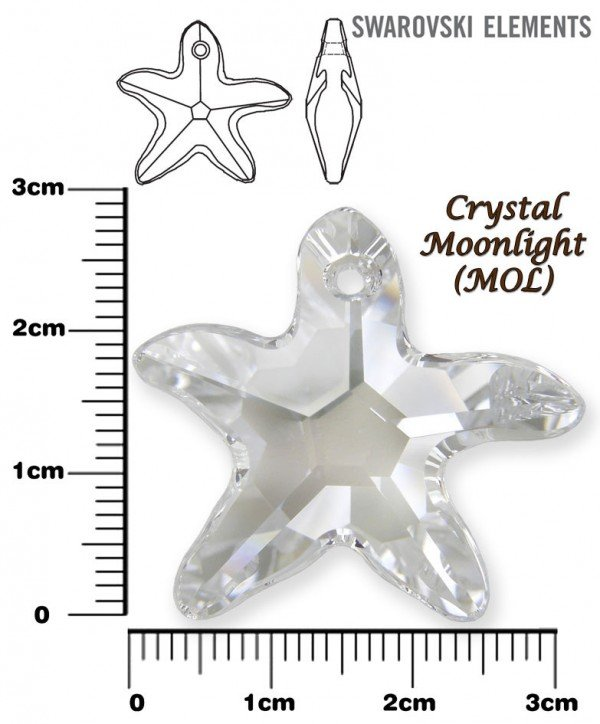 SWAROVSKI 6721 LIight CRYSTAL MOONLIGHT 28mm