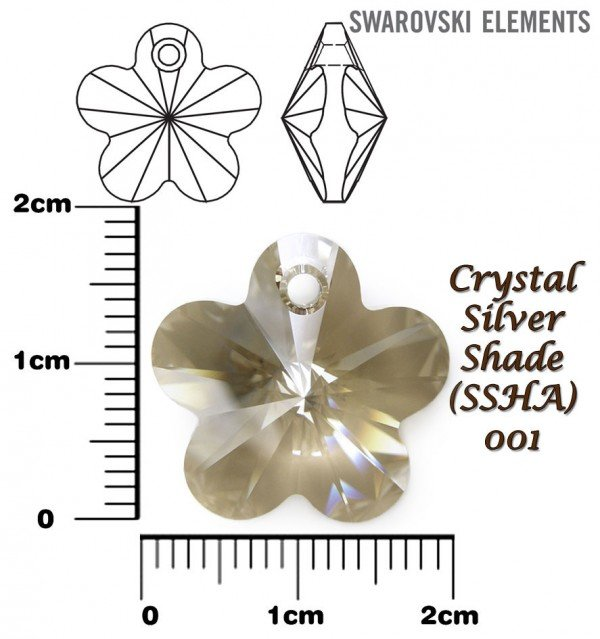 SWAROVSKI 6744 CRYSTAL SILVER SHADE 18mm