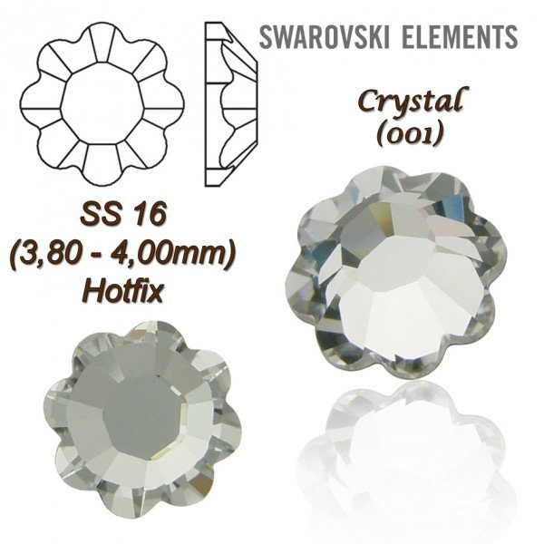 SWAROVSKI ELEMENTS 2728 HOTFIX SS16 CRYSTAL