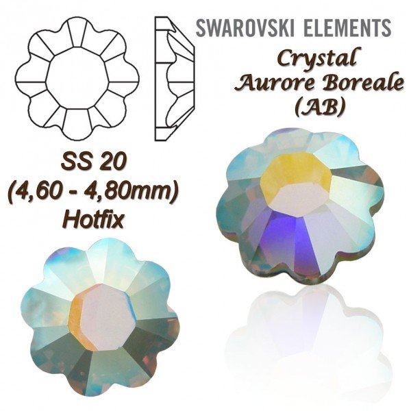 SWAROVSKI ELEMENTS 2728 HOTFIX SS20 CRYSTAL AB