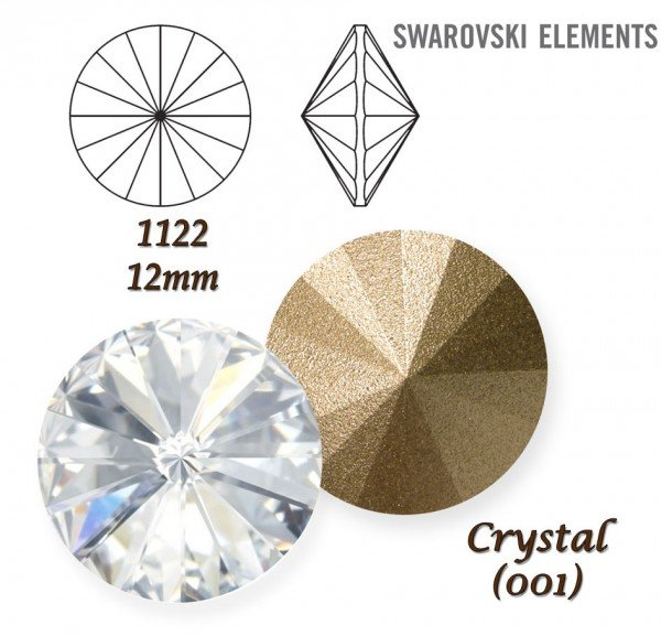 SWAROVSKI RIVOLI 1122 CRYSTAL 12mm