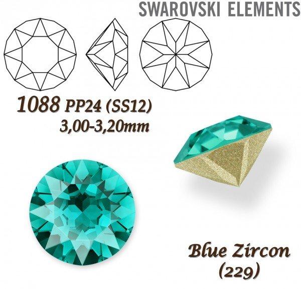 SWAROVSKI XIRIUS 1088 PP24 BLUE ZIRCON
