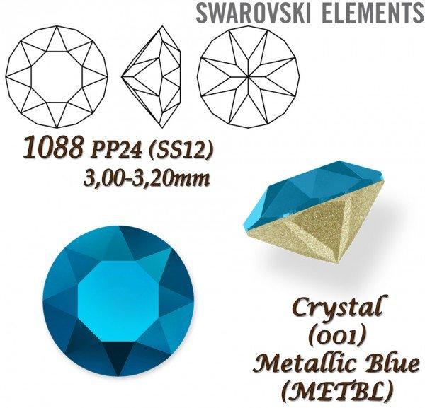 SWAROVSKI XIRIUS 1088 PP24 CRYSTAL METALLIC BLUE