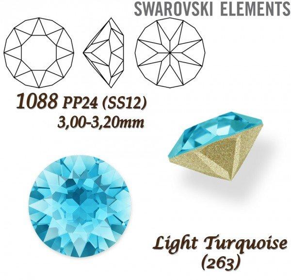 SWAROVSKI XIRIUS 1088 PP24 LIGHT TURQUOISE