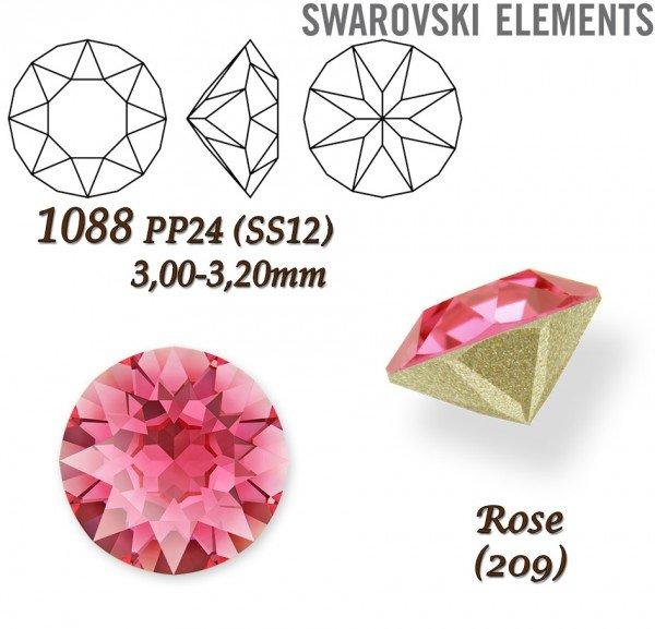 SWAROVSKI XIRIUS 1088 PP24 ROSE
