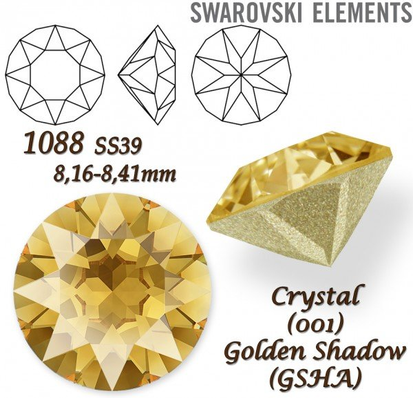 SWAROVSKI XIRIUS 1088 SS39 GOLDEN SHADOW