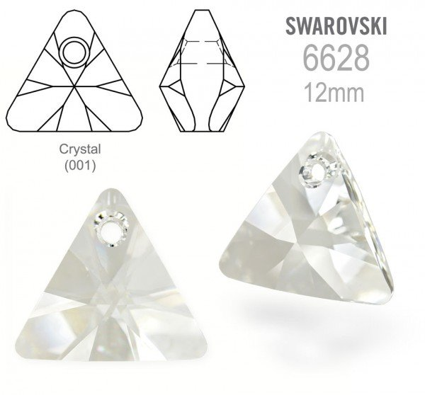 Swarovski 6628 Triangle 12mm Crystal