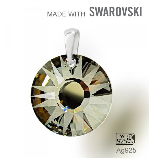 Swarovski 6724 Silver Night  19mm+slupna Ag