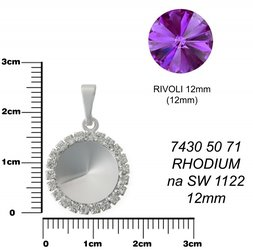 KRUH na RIVOLKY 12mm rhodium 7430 50 71