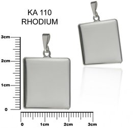 Komponent CTVEREC 21x21mm ozn.KA 110 rhodium