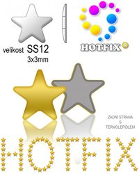 NAILHEAD HOTFIX kovove SS12 STAR color 002 GOLD