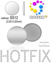 NAILHEAD HOTFIX kovove SS12 color 01 SILVER