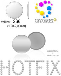 NAILHEAD HOTFIX kovove SS6 color 001 SILVER