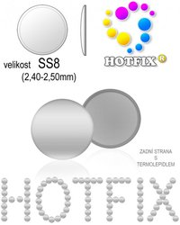 NAILHEAD HOTFIX kovove SS8 color 01 SILVER