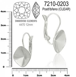 Náušnice na komponenty SWAROVSKI 4470 12mm. Ozn.7210-0203 . 69298694b91
