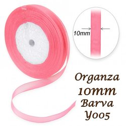 ORGANZA stuha 10mm Y005 PURPUROVA