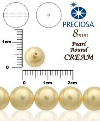 PRECIOSA Pearl Round CREAM 98993 vel-8mm