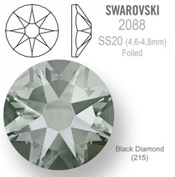 SWAROVSKI 2088 Foiled SS20 Black Diamond
