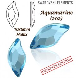 SWAROVSKI 2797 HOTFIX 10x5mm AQUAMARINE