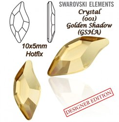 SWAROVSKI 2797 HOTFIX 10x5mm GOLDEN SHADOW