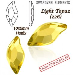SWAROVSKI 2797 HOTFIX 10x5mm LIGHT TOPAZ